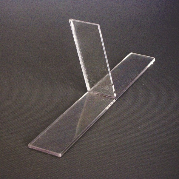Trennsteg für DIN A4 Tischaufsteller T- Unterteiler Prospekthalter