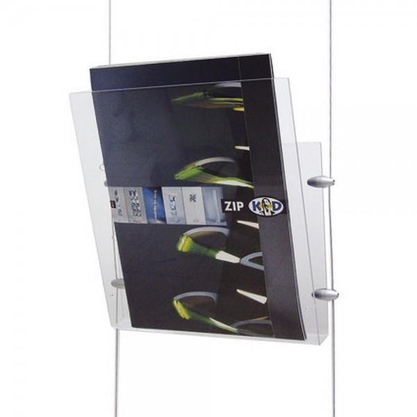 Prospektschale Flybag Acryl Prospektablage Ablage für Seilsystem