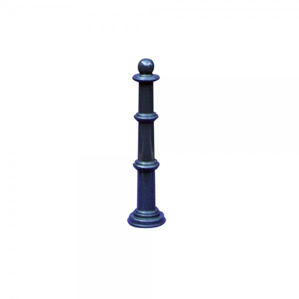 Alu Mini Stilpoller Stilpfosten 460 mm hoch zum Einbetonieren grau