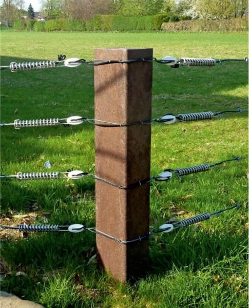 Balken 16 x 24 cm aus Recycling Kunststoff Schwellen Profil Brett