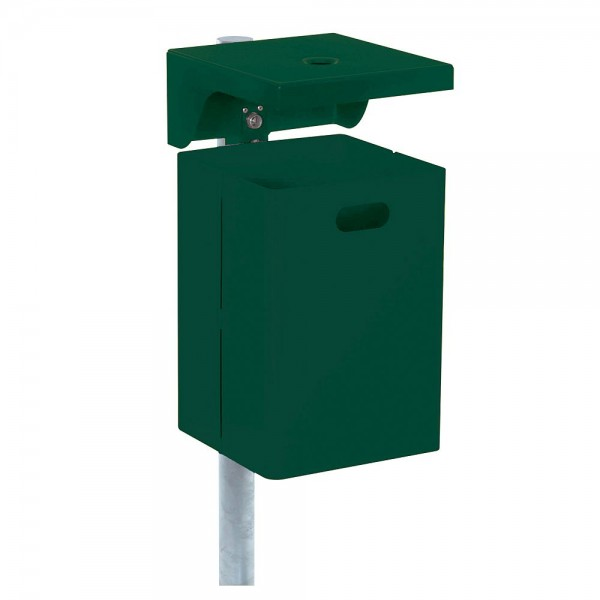 Abfallbehälter mit Dach Abfalleimer Ascher Abfallsammler für Außen