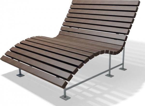 Liegebank Eldorado Bank für Bad und Sauna aus Recycling Kunststoff